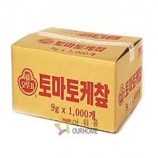1000640363 일회용케찹(박스),DC,오뚜기,9KG(9G*1000EA)/BOX BOX [D-1]