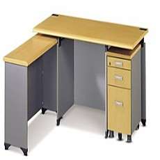 책상세트(책상, 보조책상, 서랍장)